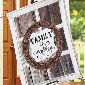 Large House Flag- NEW- Farmhouse Country Family